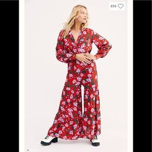 Free People sleeping in the garden jumpsuit